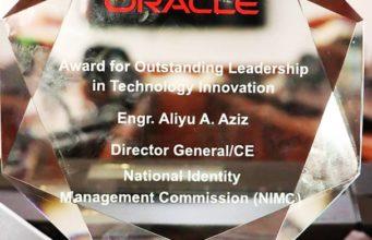 Oracle Award presented to NIMC