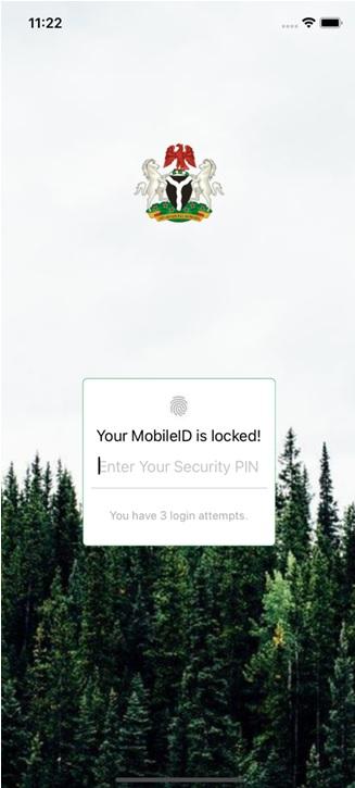 MWS Mobile ID lock screen
