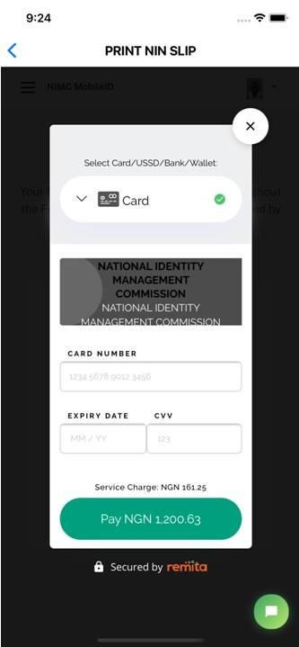Remita card payment option